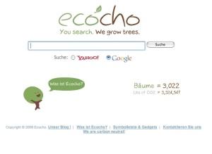 Screenshot der Seite www.ecocho.com
