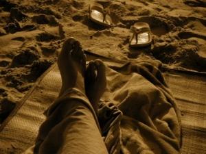 Ich chille am Strand