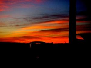 Sonnenuntergang in Le Gurp